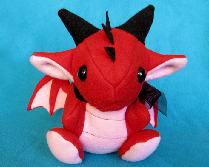 Red Dragon Plushie by DragonsAndBeasties