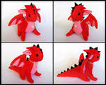 Red Plated Dragon Plushie