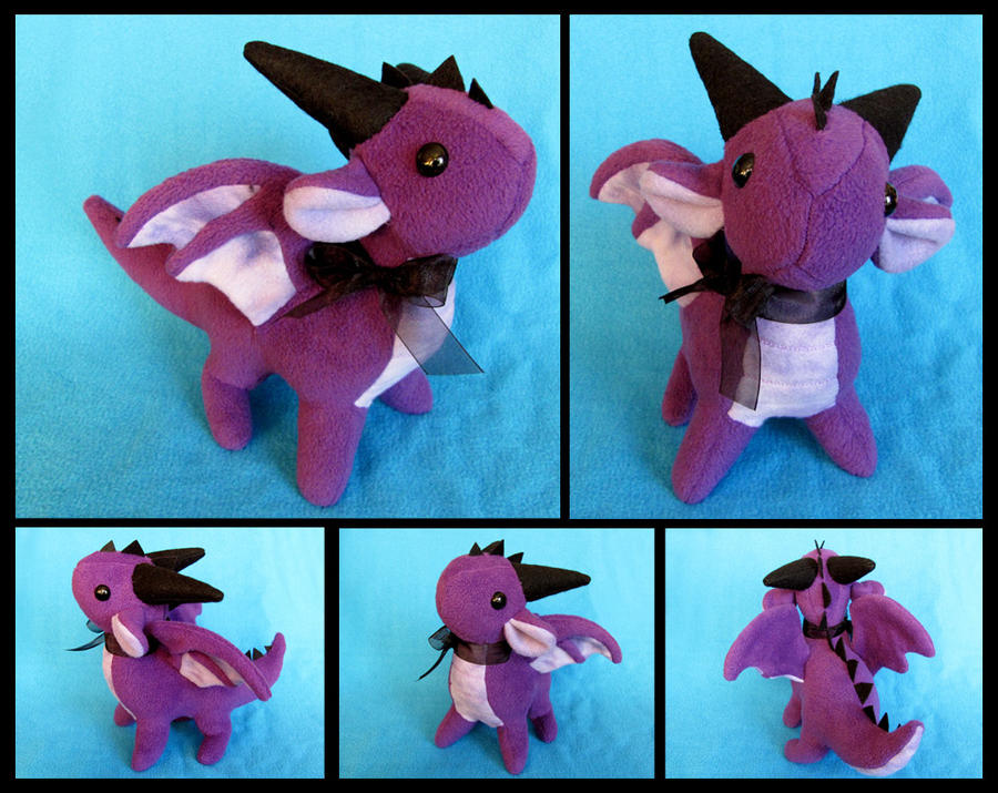Standing Purple Dragon Plushie by DragonsAndBeasties