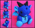 Blue Dice Dragon Plushie