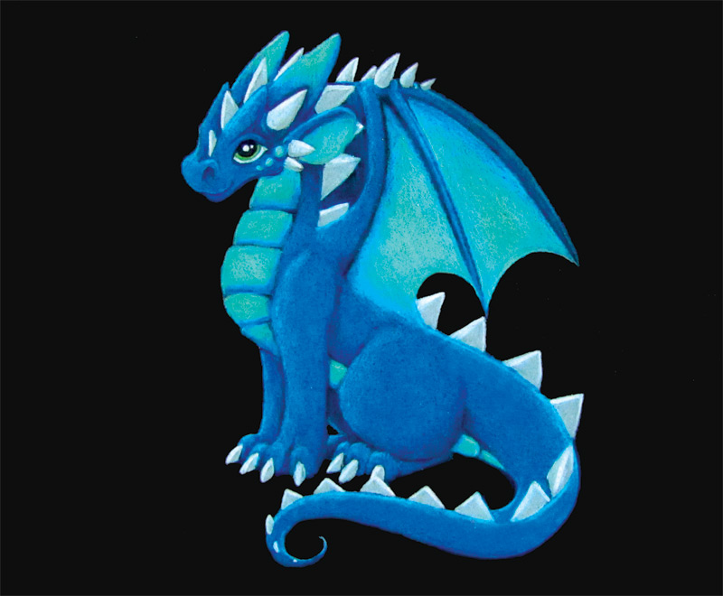 Blue Dragon by DragonsAndBeasties