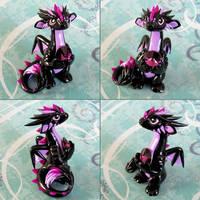 Purple Tufted Dragon by DragonsAndBeasties