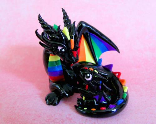 Mama and baby rainbow dragons