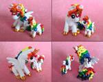 Mama and Baby Rainbow Ponies 2