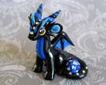 Black and Blue Mini Dice Dragon