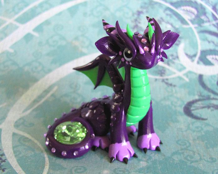 Purple and Green Gem Dragon by DragonsAndBeasties