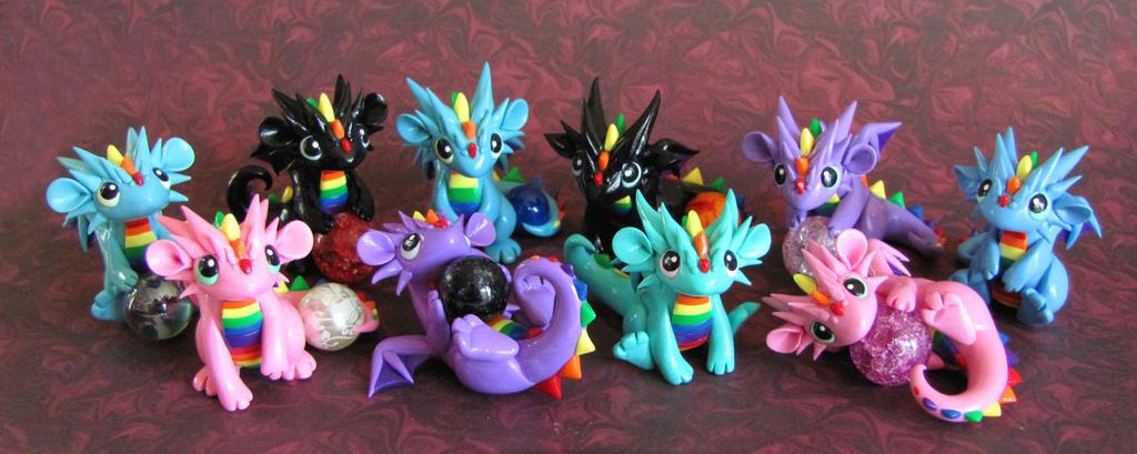 A pile of rainbow babies! by DragonsAndBeasties on DeviantArt