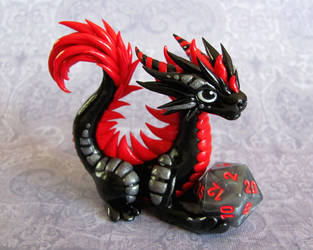 Black and Red Dice Dragon by DragonsAndBeasties