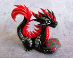 Black and Red Dice Dragon