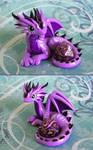 Purple Striped Dice Dragon