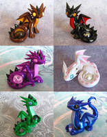 Random Gem Dragons by DragonsAndBeasties