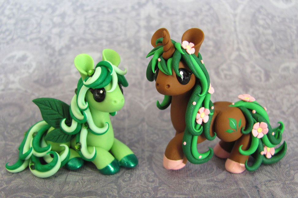 Nature Ponies by DragonsAndBeasties