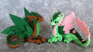 Leaf and Flower Dragon Couple