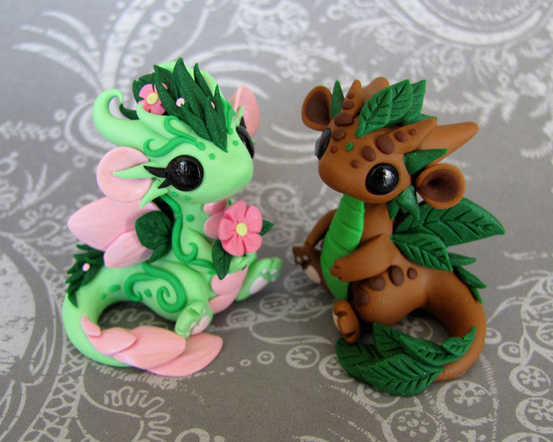 Leaf And Flower Babies by DragonsAndBeasties
