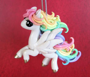 Pastel Pegasus in Flight