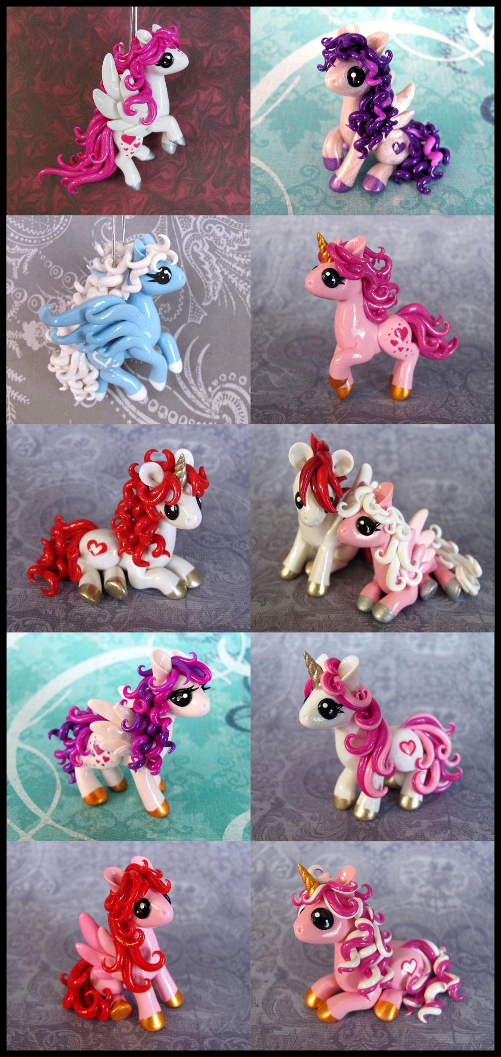 Valentine Ponies 2014 by DragonsAndBeasties