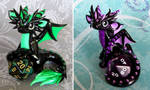 Green and Purple Dice Dragons