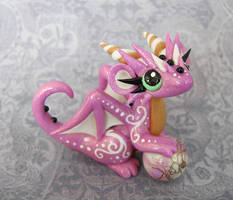 Pink Swirl Baby Dragon by DragonsAndBeasties