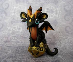 Perched Baby Dice Dragon by DragonsAndBeasties