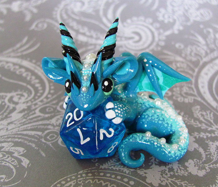 Baby Dice Dragon by DragonsAndBeasties