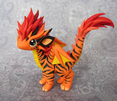 Tiger-Striped Dragon by DragonsAndBeasties