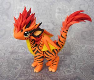 Tiger-Striped Dragon by DragonsAndBeasties