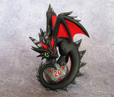Dragon on D20 by DragonsAndBeasties