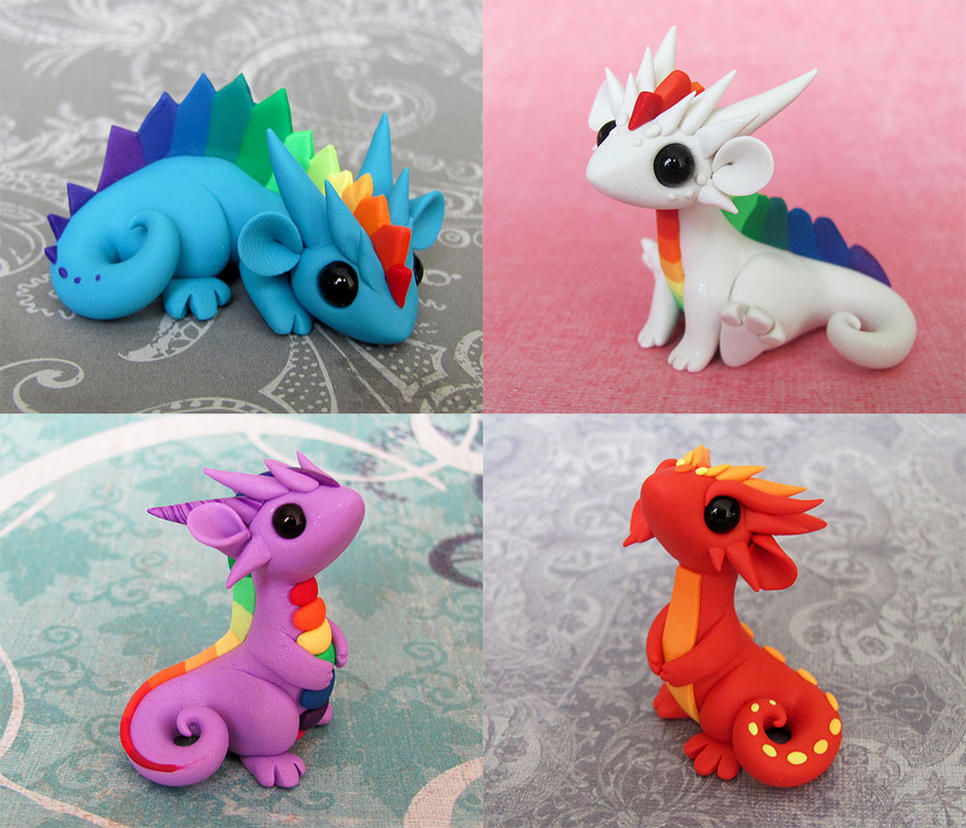 Colorful Scrap Dragons by DragonsAndBeasties