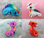 Colorful Scrap Dragons