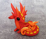 Firey Mama and Baby Dragon