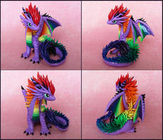 Purple Rainbow Dragon by DragonsAndBeasties