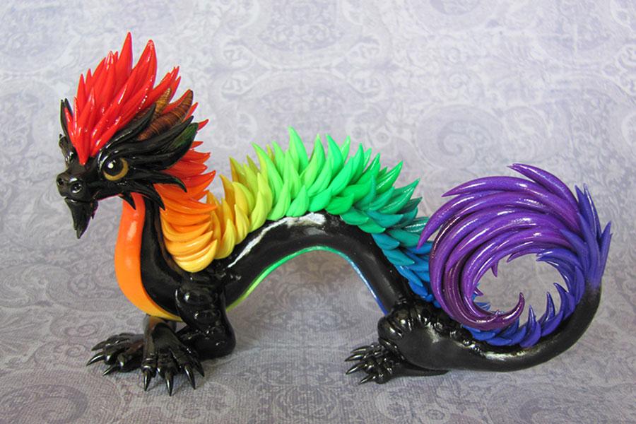Oriental Rainbow Dragon by DragonsAndBeasties