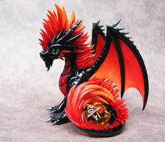 Firey Mohawk Dragon by DragonsAndBeasties