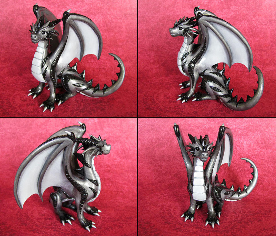 Silver Dragon by DragonsAndBeasties