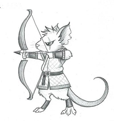 Mouse Archer by DragonsAndBeasties