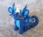 Blue dragon with mouse pal