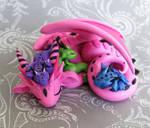 Mama Dragon with Three Babies
