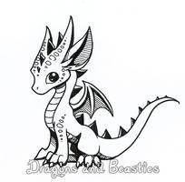 Inktober: Little Dragon by DragonsAndBeasties