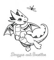 Inktober: Tiny Playmate by DragonsAndBeasties
