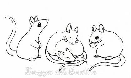 Inktober: Candy rats
