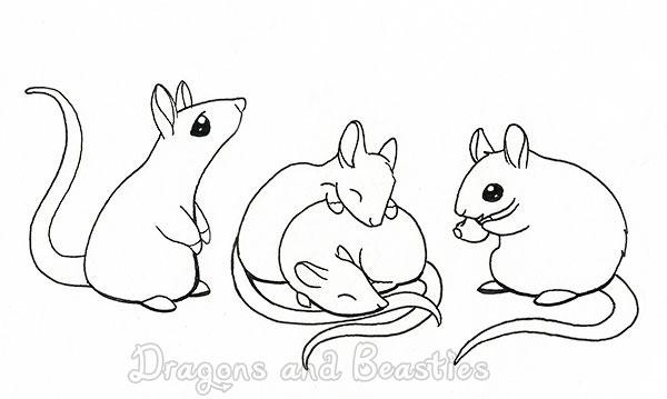 Inktober: Candy rats by DragonsAndBeasties