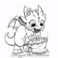Inktober: Birthday Cake! by DragonsAndBeasties
