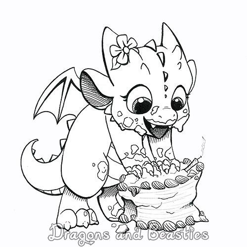 Inktober: Birthday Cake! by DragonsAndBeasties