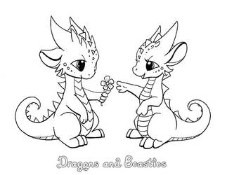 Inktober: Flower by DragonsAndBeasties