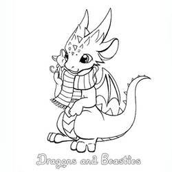 Inktober: Cozy by DragonsAndBeasties