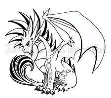 Inktober: Mohawk Dragon by DragonsAndBeasties