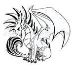Inktober: Mohawk Dragon