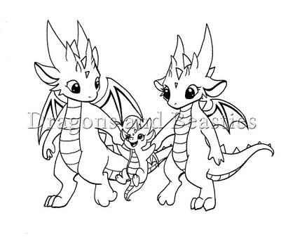 Inktober: Little Dragon Family