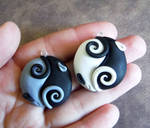 Yin Yang Rat Pendants by DragonsAndBeasties