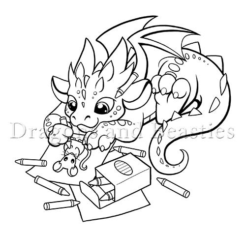 Coloring Dragon by DragonsAndBeasties on DeviantArt